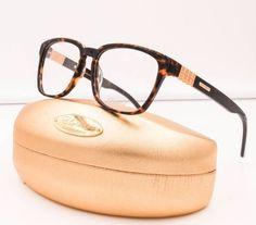 Chopard VCH 143 0722 Havana Brown 23 KT Gold Plated RX Eyeglasses NWC 52mm  #Chopard