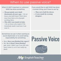 When to use Passive Voice?