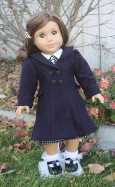 American Girl 1930s Ruthies Coat in Plum by RuthielovestoSew, $42.00