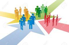 10775417-Quattro-gruppi-di-persone-si-incontrano-e-collegare-all-intersezione-di-4-frecce-Archivio-Fotografico.jpg (1300×841)