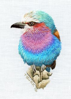 bird, crewel embroidery, decoupage animals, decoupage papers free printable, embroidery, needle painting, trish burr,