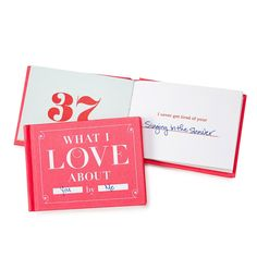 Show a crush why she's special or spell out to your husband why he gets you going with this fill-in-the-blank book.