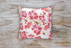 Spring Orchid Flower Decorative Pillows