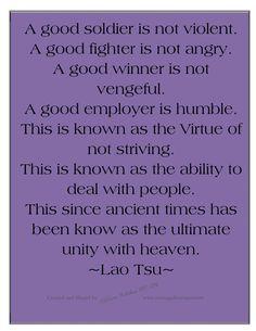 Virtue, unity with heaven - Lao Tsu