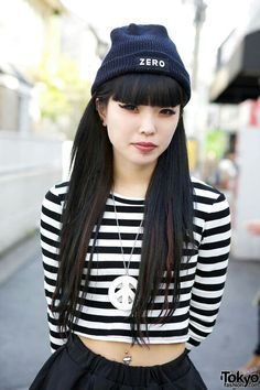 Harajuku street style is varied and unique. Love the girls of Japan! | More outfits like this on the Stylekick app! Download at http://app.stylekick.com