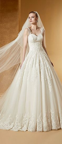 b03d99af3b66d Marvelous Tulle   Satin Sweetheart Neckline A-Line Wedding Dresses With  Beaded Lace Appliques ブライド