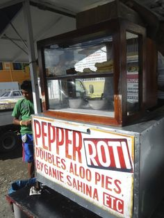 Classic Trinidad Food Cart - from the Guide to Trinidad Street Food - http://www.theconstantrambler.com/trinidad-street-food-guide/