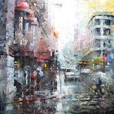 """""""San Francisco Greys"""" by Mark Lague Oil ~ 30 x 30"""