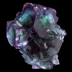 Bi-colored Fluorite cubes with modified edges. From the Okorusu Mine, Otjiwarongo Region, Karibib District, Namibia. Measures 8 cm by cm by 5 cm in size. Cool Rocks, Beautiful Rocks, Minerals And Gemstones, Rocks And Minerals, Mineral Stone, Rocks And Gems, Stones And Crystals, Gem Stones, Gemstone Colors
