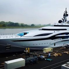 "The wait is over! Superyacht ""Project Jupiter"" has been launched  She will be in the top 30 largest yachts in the world. Guess which position?  comment below"