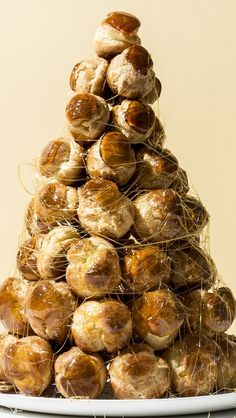 The croquembouche: a.k.a. a towering tree made of cream puffs and sugar. WOW.