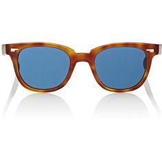Oliver Peoples Masek Sunglasses ($425) ❤ liked on Polyvore featuring accessories, eyewear, sunglasses, brown, tortoiseshell glasses, oliver peoples glasses, matte lens sunglasses, logo sunglasses and etched glasses