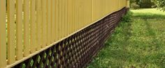 Lattice can me used to complete the top or in this case the bottom of any fence.