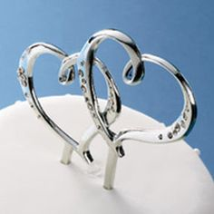 Wilton S Double Heart Cake Topper Wedding Cakes Themed Toppers