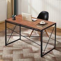 60 Inch Driftwood Urban Blend Computer Storage Desk Folding Desk