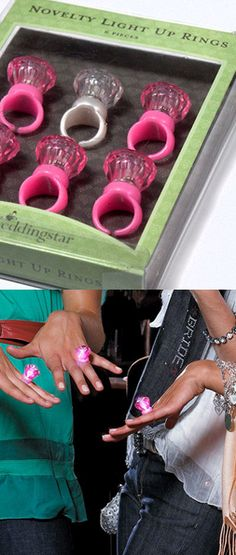 Light up rings for the bachelorette party