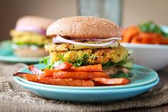 Coconut-Curry Chickpea Quinoa Pineapple Burgers