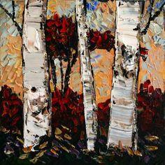Crimson Leaves Create Words, Maya, North America, Scene, Leaves, Landscape, Painting, Scenery, Painting Art