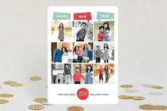 Year of Photos New Year's Photo Cards -- love the idea of sending New Year's cards instead of Christmas cards