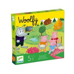 Retrouvez l'histoire du conte les 3 petits cochons grâce à ce jeu de société Djeco. Comme dans le conte, les joueurs tentent de construire la maison de brique pour mettre à l'abri les trois petits cochons. Un jeu de coopération pour gagner ensemble contre le grand méchant loup !