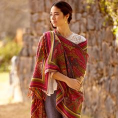 Syaamaha Wool Shawl ~ Hand-Crafted by artisans in India via www.worldmarket.com #CRAFTBYWORLDMARKET