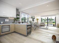 Projekt domu Tracja 3 117,19 m2 - koszt budowy 255 tys. zł - EXTRADOM Kitchen Island, Kitchen Cabinets, Home Decor, Little Cottages, Island Kitchen, Decoration Home, Room Decor, Cabinets, Home Interior Design