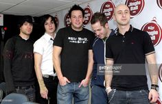 Simple Plan during KISS 108 FM Jingle Ball 2004 - Backstage at Tsongas Arena in…