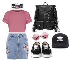 Festival Pink by alanna-clothing on Polyvore featuring moda, Topshop, Yves Saint Laurent and adidas Originals