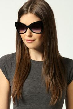 2ab372f1788d Daria Oversized Retro Sunglasses at boohoo.com Four Eyes