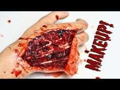Tutorial: Injured Hand Makeup (with tendons exposed) Using Wax and Latex - YouTube