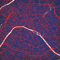 Paris, France - City Prints Map Art