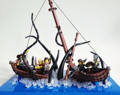 This fearsome LEGO depiction of a giant squid attacking a ship is by Sam Malmberg.