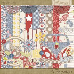 Hippie Kit :: Digital Kits :: Scrap Orchard #digiscrap #digitalscrapbooking #scrapbooking