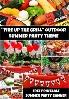 Fire Up The Grill Outdoor Summer Party Theme