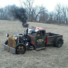 Rat Rods, Rat Rod Cars, Hot Rod Trucks, Cool Trucks, Big Trucks, Cool Cars, Pedal Cars, Semi Trucks, Diesel Rat Rod