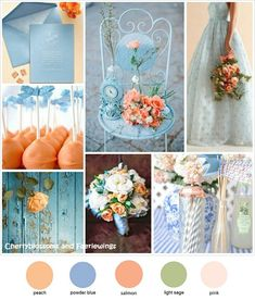 powder blue and coral wedding - Google Search