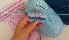 KİMİN BEBİŞİ BU? ÖRGÜ MODELİ İLE CİCİ ÖRGÜLER TARİFİ Baby Knitting Patterns, Knitting Stitches, Stitch Patterns, Crochet Patterns, Easy Crochet, Knit Crochet, Crochet Hooded Scarf, Crocodile Stitch, Baby Pullover