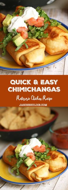 Quick and Easy Rotisserie Chicken Chimichangas Recipe