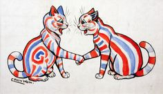 Louis Wain, Striped Cats