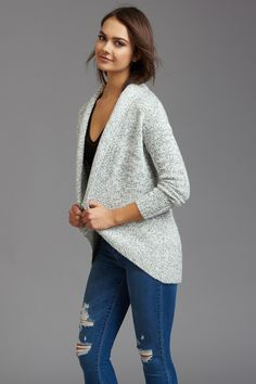 Cocoon Shaped Open Cardigan
