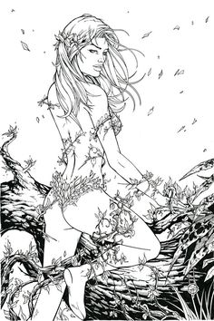 This is an inked version of a fairly recent Poison Ivy sketch commission. I decided it would be fun to try out my inking so resized it to A3, made a few alterations (and ended up re-pencilling pret...