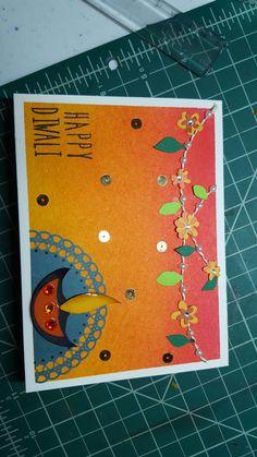 Happy Diwali card #indianmotif #embossing #diya #happydiwali #cardsforeveryoccassion #geetlovespainting #greetingcards #beautifulcolors #lovingit😍 #rangoli #toran #handmade #geetikart Handmade Diwali Greeting Cards, Diwali Greetings, Art N Craft, Happy Diwali, Diy Cards, Crafts, Manualidades, Homemade Cards, Cards Diy