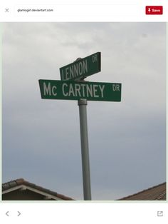 It would sure be cool living on the corner of Lennon and McCartney