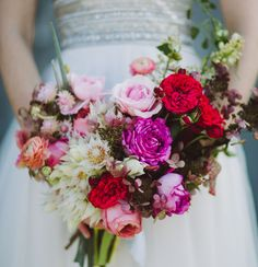 Pink + Red rose bouquet