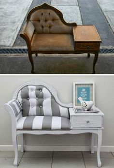 upcycling-möbel-sofa-mit-schublade-aupfeppen-bild-dekoration-zeitschriften upcycling-furniture-sofa-with-drawer-apples-picture-decoration-magazines ideas furniture Refurbished Furniture, Paint Furniture, Repurposed Furniture, Sofa Furniture, Furniture Projects, Furniture Makeover, Vintage Furniture, Furniture Design, Furniture Stores