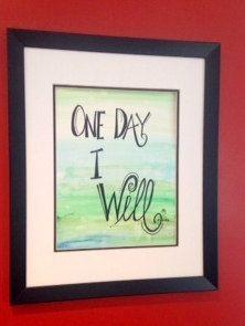 ONE DAY I WILL Original Handpainted Watercolor by worDSMITHstudios, $14.00