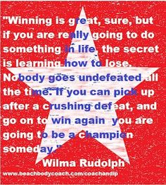 Famous Olympic athlete quote.