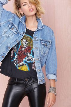 After Party Vintage Wanted Denim Jacket | Shop Clothes at Nasty Gal