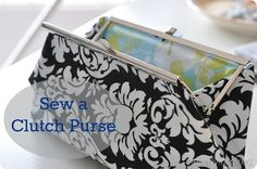 clutch purse with frame closure  http://cleverlyinspired.com/2012/05/update-how-to-sew-a-clutchand-finish-it/?utm_source=feedburner_medium=email_campaign=Feed%3A+Cleverlyinspired+%28cleverlyinspired%29