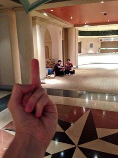 Dan and Phil eating alone at Summer in the City.